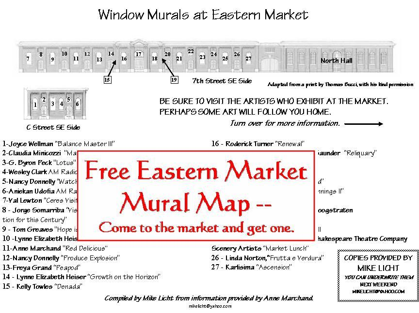 Free Mural Map of Eastern Market  NotionsCapital