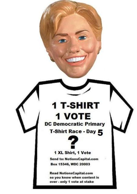 Trick-or-Treat? No trick. 1 T-shirt, 1 vote.