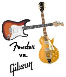 Image result for picture of gibson and fender guitar