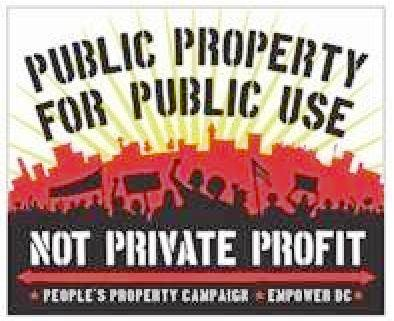 Save DC Public Property, March 30th Meeting